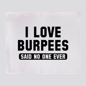 I Love Burpees Stadium Blanket