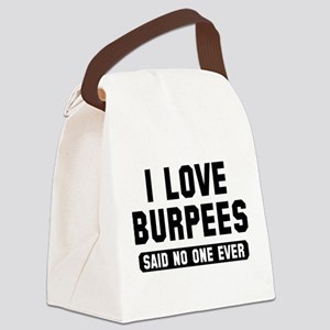 I Love Burpees Canvas Lunch Bag
