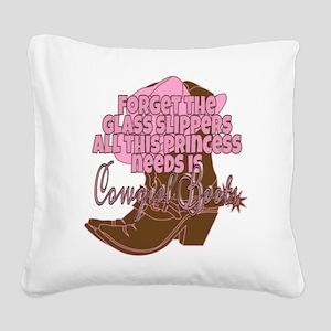 Cowgirl princess Square Canvas Pillow