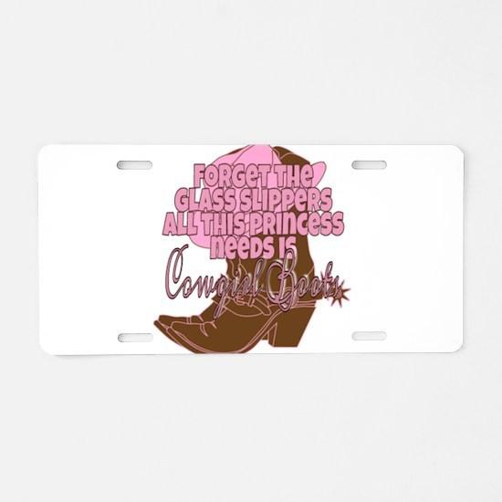 Cowgirl princess Aluminum License Plate