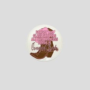 Cowgirl princess Mini Button