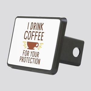 I Drink Coffee Rectangular Hitch Cover