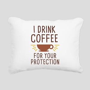 I Drink Coffee Rectangular Canvas Pillow