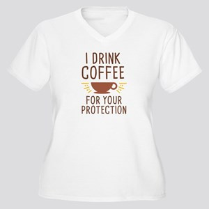 I Drink Coffee Women's Plus Size V-Neck T-Shirt