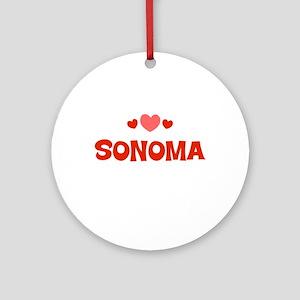 Sonoma Ornament (Round)