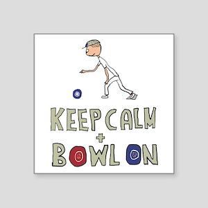 Keep Calm Bowls Sticker