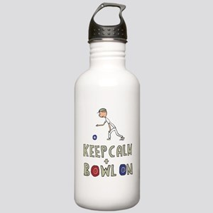 Keep Calm Bowls Stainless Water Bottle 1.0L