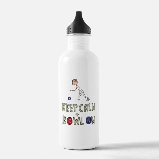 Keep Calm Bowls Water Bottle