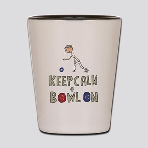 Keep Calm Bowls Shot Glass