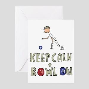 Keep Calm Bowls Greeting Cards