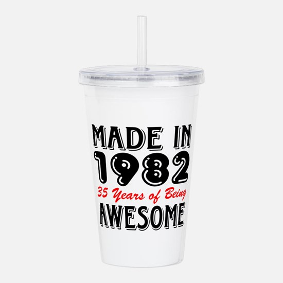 Made In 1982 35 Years Acrylic Double-wall Tumbler