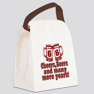 66 Cheers Beers And Many More Yea Canvas Lunch Bag