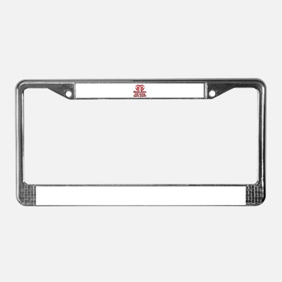 66 Cheers Beers And Many More License Plate Frame