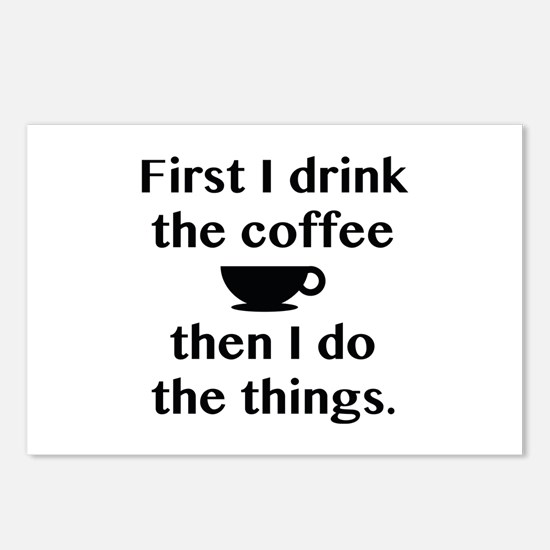 First I Drink The Coffee Postcards (Package of 8)