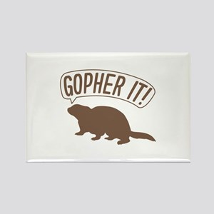 Gopher It Rectangle Magnet