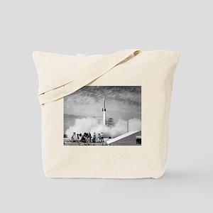 1st Rocket Launch, 1950 Tote Bag