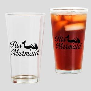 His Mermaid Drinking Glass
