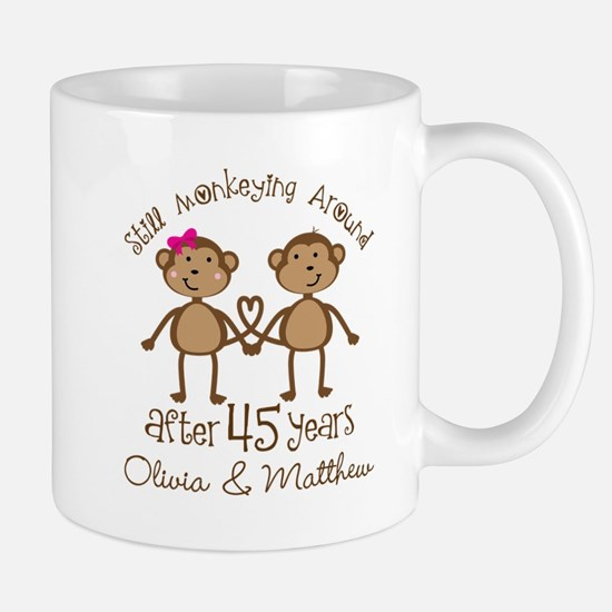 45th Wedding Anniversary Personalized Mugs