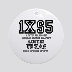 TEXAS - AIRPORT CODES - 1XS5 - AUST Round Ornament