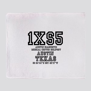 TEXAS - AIRPORT CODES - 1XS5 - AUSTI Throw Blanket