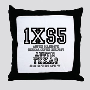 TEXAS - AIRPORT CODES - 1XS5 - AUSTIN Throw Pillow