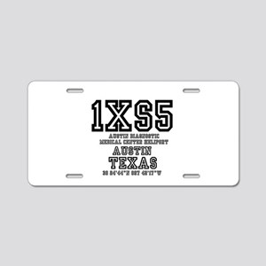 TEXAS - AIRPORT CODES - 1XS Aluminum License Plate