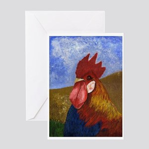 Fire Rooster New Year Greeting Greeting Cards