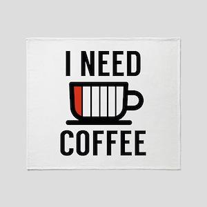 I Need Coffee Stadium Blanket