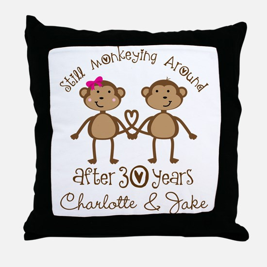 30th Wedding Anniversary Personalized Gift Throw P