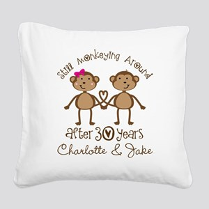 30th Wedding Anniversary Personalized Gift Square