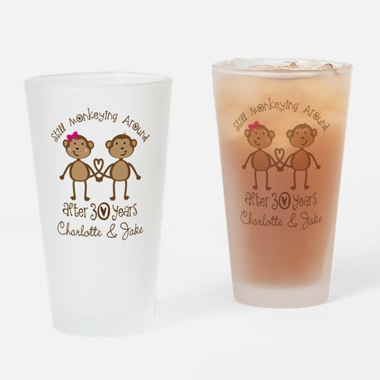 30th Wedding Anniversary Personalized Gift Drinkin