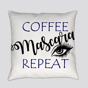 Coffee Mascara Repeat Everyday Pillow