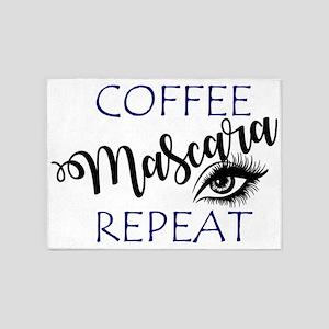 Coffee Mascara Repeat 5'x7'Area Rug