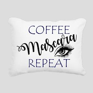 Coffee Mascara Repeat Rectangular Canvas Pillow