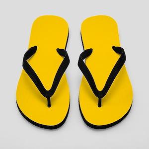 abstract summer sunflower yellow Flip Flops