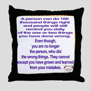 do no wrong Throw Pillow