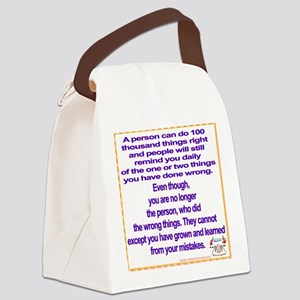 do no wrong Canvas Lunch Bag