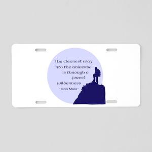 To Universe Aluminum License Plate