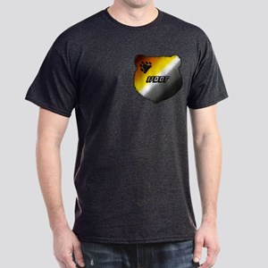 WOOF- BEAR PRIDE HEAD/pkt Dark T-Shirt
