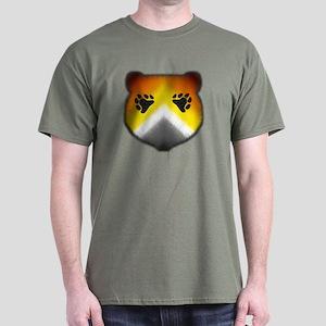 FURRY BEAR PRIDE HEAD/PKT Dark T-Shirt