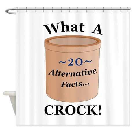 alternative facts crock shower curtain by niftypolitics. Black Bedroom Furniture Sets. Home Design Ideas