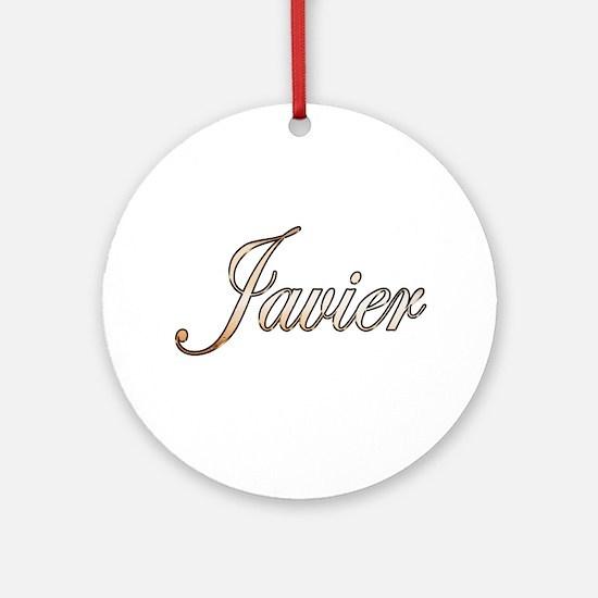Cute Javier Round Ornament