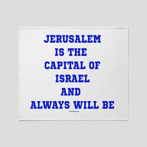 Jerusalem Israel Forever Throw Blanket