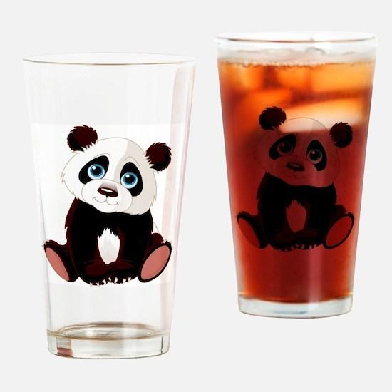 Cute Panda bears Drinking Glass
