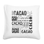 Cacao Portlandia Square Canvas Pillow