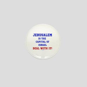Jerusalem's Israel's Capital Mini Button
