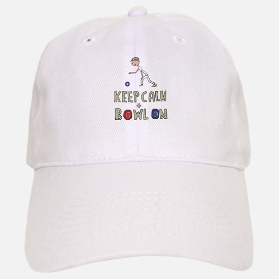 Keep Calm Bowls Baseball Baseball Cap