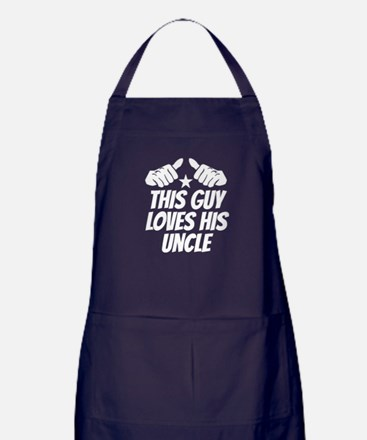 This Guy Loves His Uncle Apron (dark)