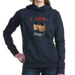 I Love Jugs Women's Hooded Sweatshirt