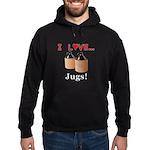I Love Jugs Hoodie (dark)